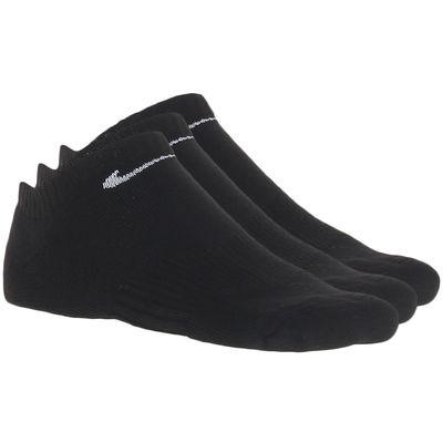 low priced e7dfd 9b508 Kit 3 Pares Meias Nike Cotton Cushion Preto Único