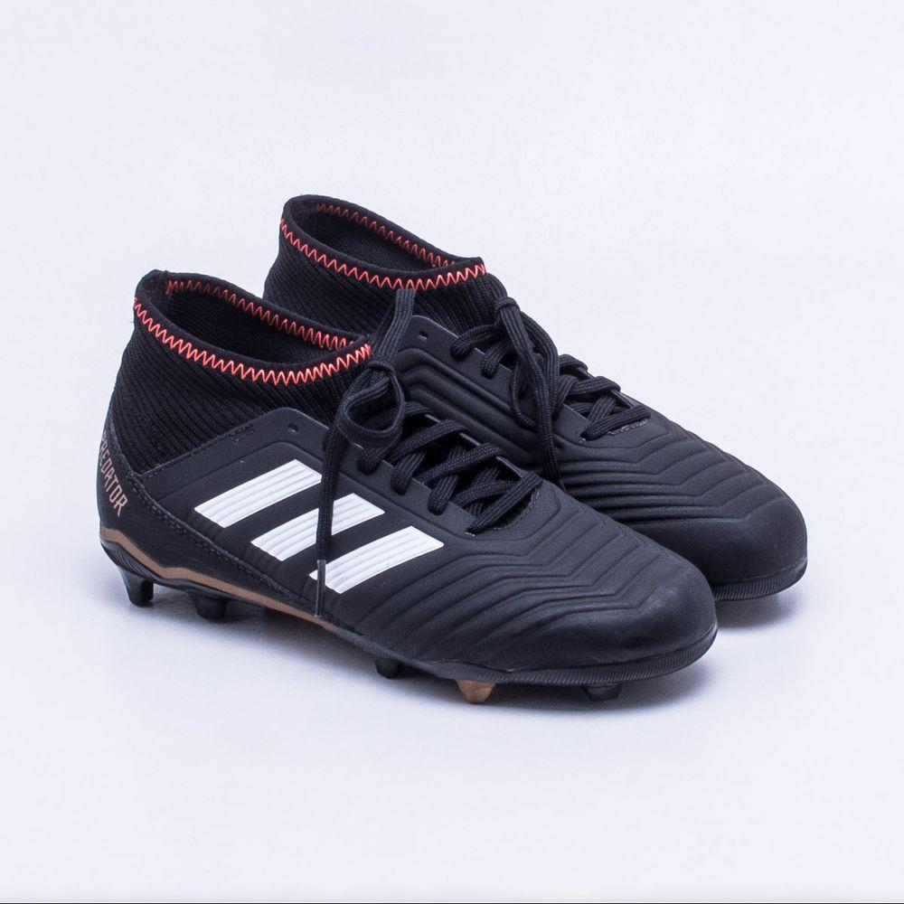 Chuteira Campo Adidas Predator 18.3 FG Infantil 44b017366f4ca