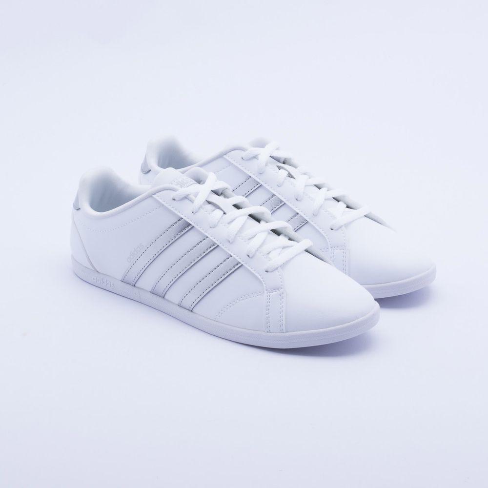 5c0325e03d Tênis Adidas VS Coneo QT Branco Feminino