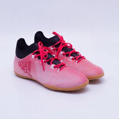 Chuteira Futsal Adidas X 17.3 IN Vermelho e Branco - Gaston ... 8e96cd5043dfe