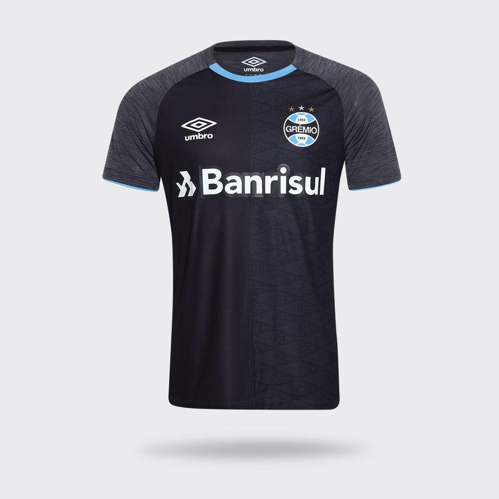 Camisa Umbro Grêmio 2018 Aquecimento Preta Masculina f08cecf40faa2