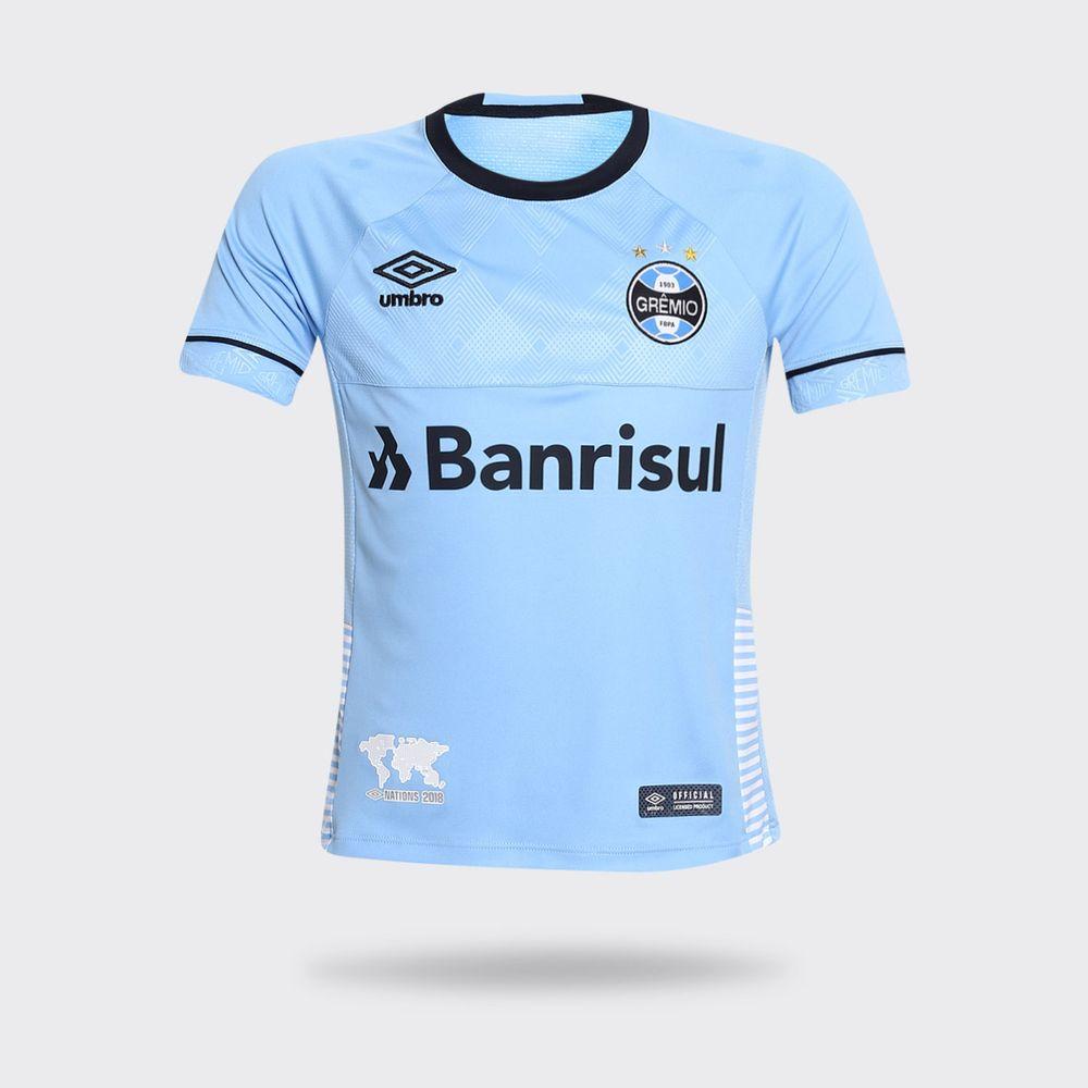 Camisa Umbro Grêmio 2018 Charrua Azul Claro Infantil c20b39373a5da