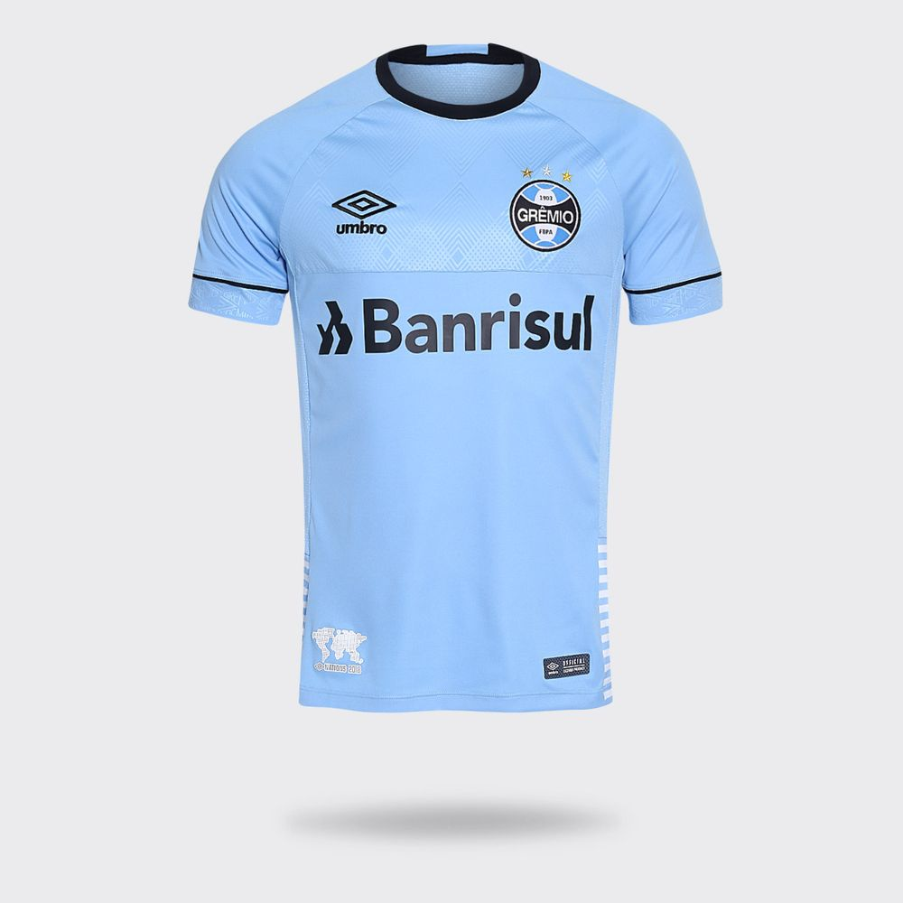Camisa Umbro Grêmio 2018 Charrua Azul Claro Masculina 69edb7326f292
