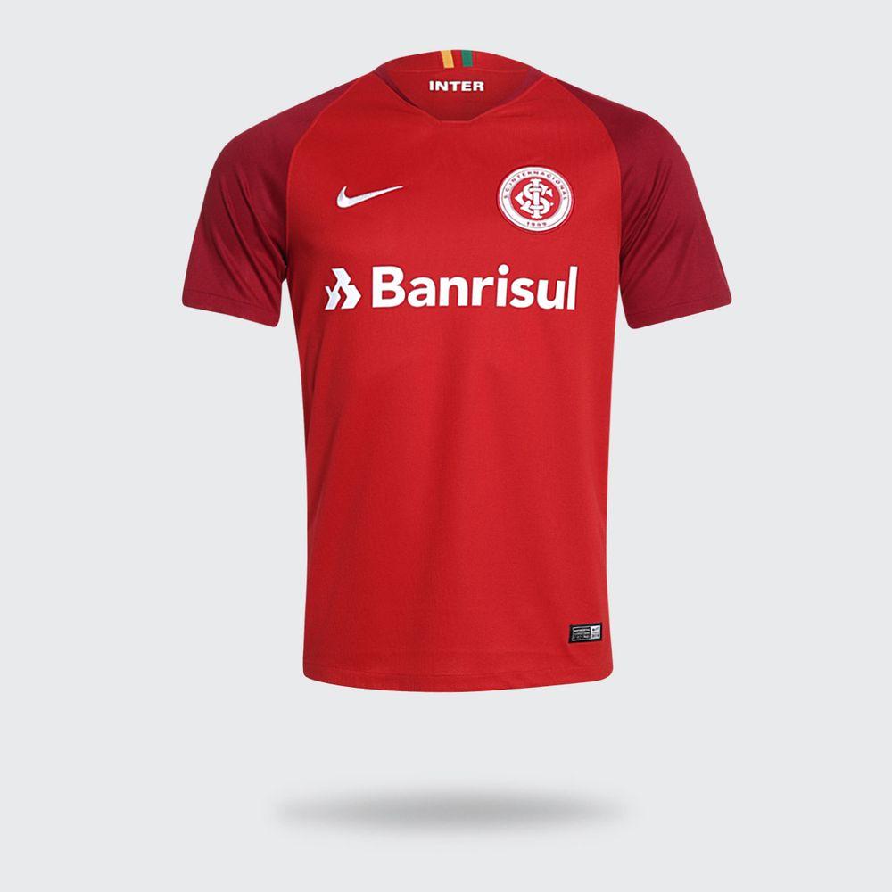 Camisa Nike Internacional 2018 2019 I Vermelha Masculina 356f7bf1812b8