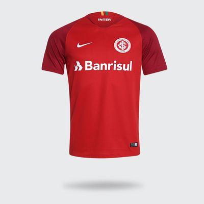 Camisa Nike Internacional 2018 2019 I Vermelha Masculina Vermelho ... 03dbc82daed69