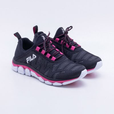 1f6be86ab8c Tênis Fila Inverse Feminino Preto e Rosa - Gaston - Paqueta Esportes