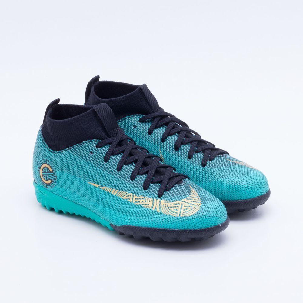 Chuteira Society Nike Jr MercurialX Superfly 6 Academy CR7 TF Infantil ba3a72b145a52