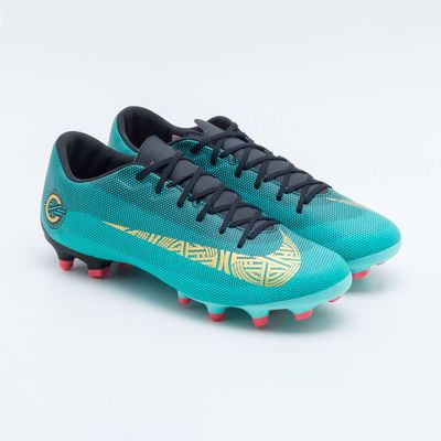 a01751be2 Chuteira Campo Nike Mercurial CR7 Vapor XII Academy FG MG Verde ...