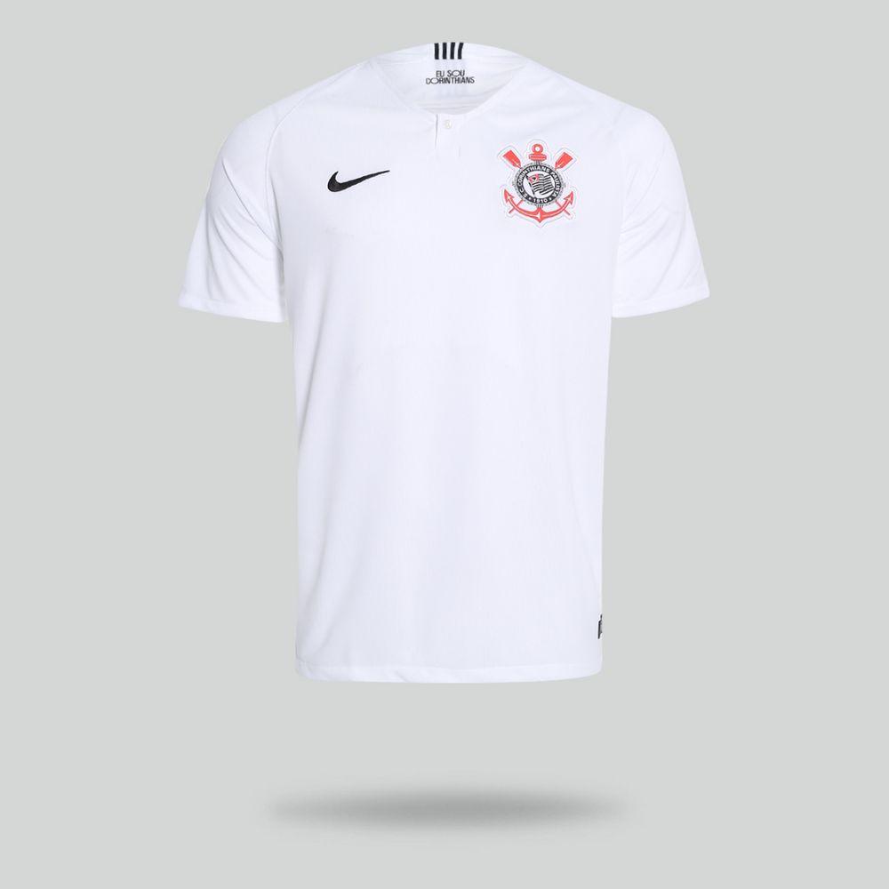 67a512917 Camisa Nike Corinthians 2018 2019 I Torcedor Branca Masculina