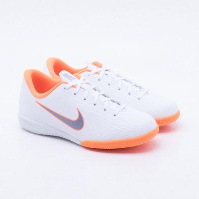 991dff9709a31 Chuteira Futsal Nike MercurialX Vapor 12 Academy Infantil Branco ...