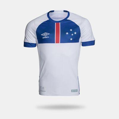 d97b6d0e4 Camisa Umbro Cruzeiro 2018 II Blár Víkingur Torcedor Branca Masculina G