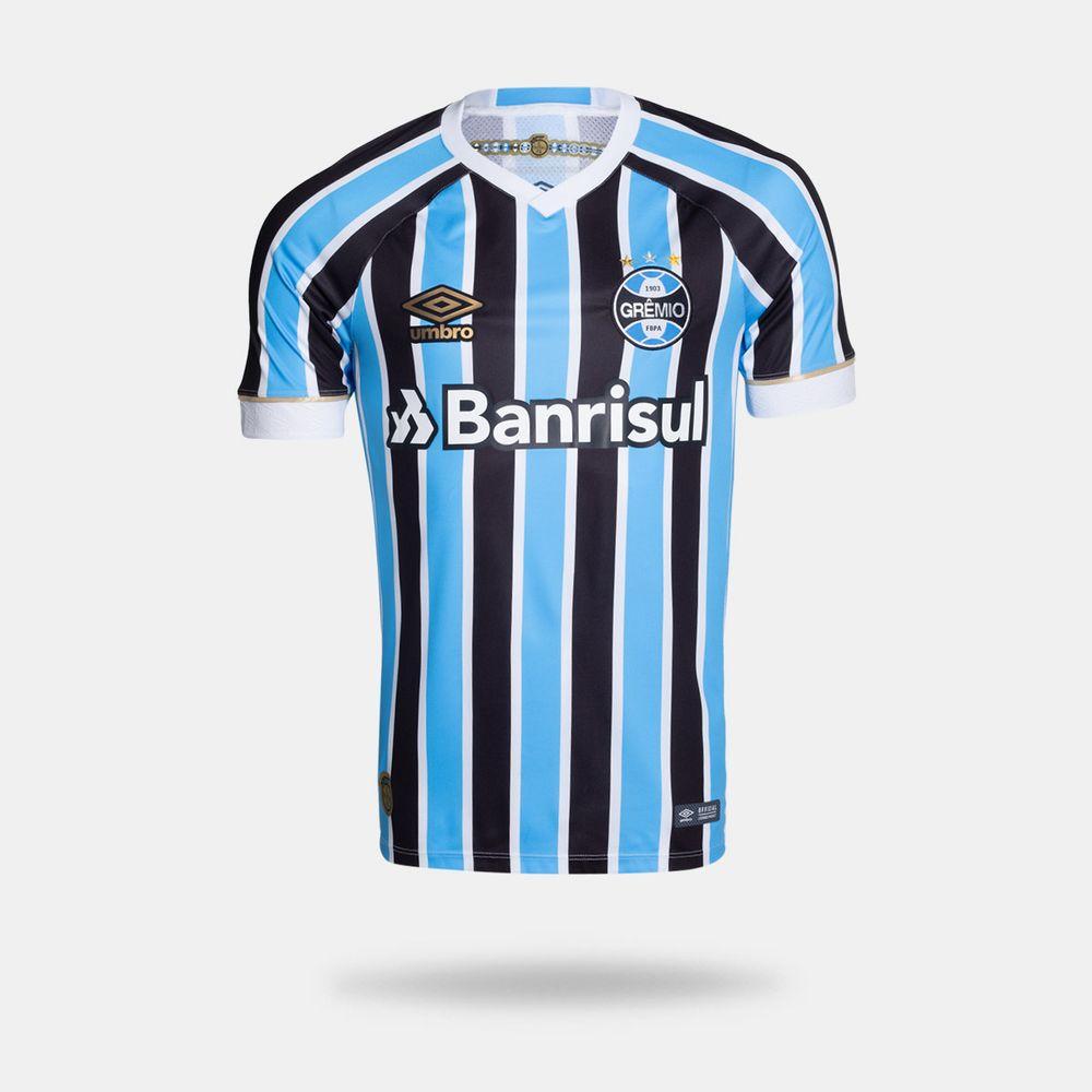 Camisa Umbro Grêmio 2018 I Torcedor Com Número Tricolor Masculina ef14977be05a4
