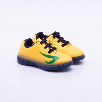 ed76148c48 Chuteira Futsal Ortopé Infantil Amarela Amarelo e Marinho - Gaston ...