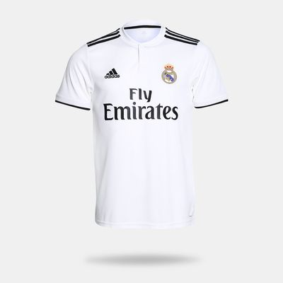 310dce3ac Camisa Adidas Real Madrid I 2018 2019 Torcedor Branca Masculino ...