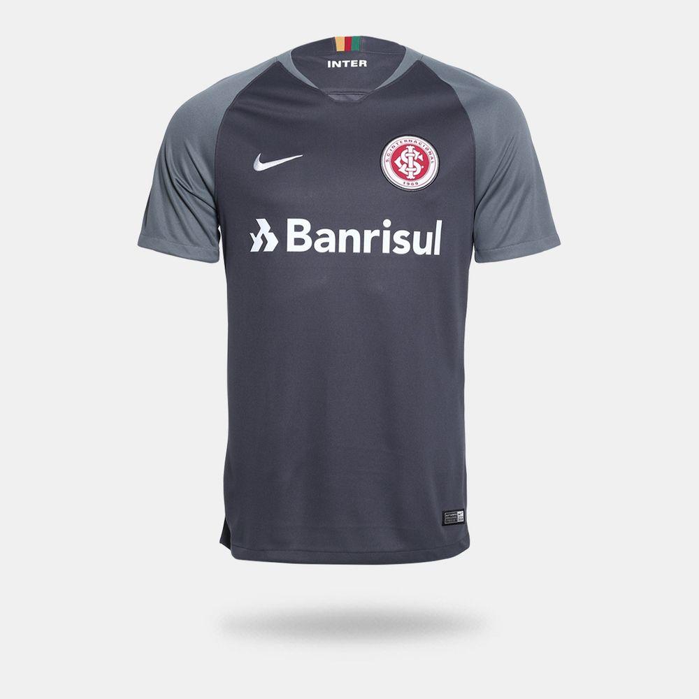 62210ff3d Camisa Nike Internacional 2018 2019 III Torcedor Cinza Masculina