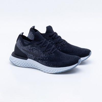 1a68cb662c8 Tênis Nike Epic React Flyknit Feminino Preto e Branco - Gaston ...