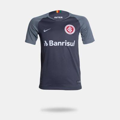 5b37df2cb Camisa Nike Internacional 2018/2019 III Torcedor Cinza Infantil G
