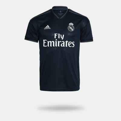 85ab32d10 Camisa Adidas Real Madrid II 2018 2019 Torcedor Preta Masculina ...