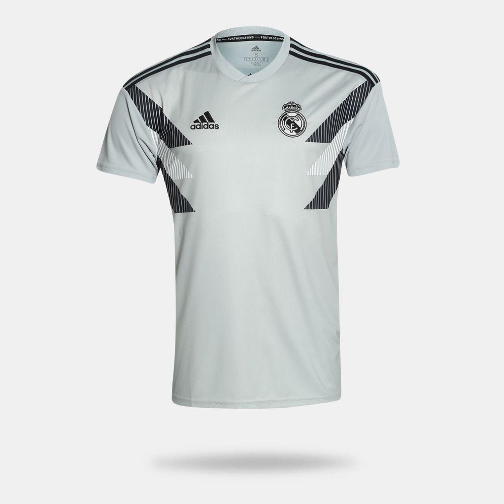 Camisa Adidas Real Madrid 2018 2019 Pré Jogo I Cinza Masculina 6c824a523800d