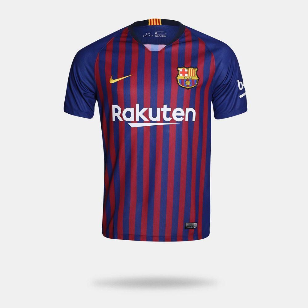 fff52f892e Camisa Nike Barcelona I 2018 2019 Torcedor Azul Masculina