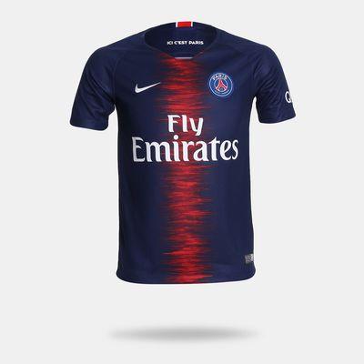 4d05e8a06ab06 Camisa Nike PSG 2018 2019 I Torecdor Azul Infantil Azul - Gaston ...