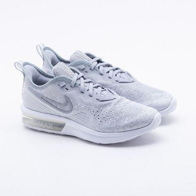 2f38ee2242ec5 Tênis Nike Air Max Sequent 4 Feminino Cinza - Gaston - Paqueta Esportes