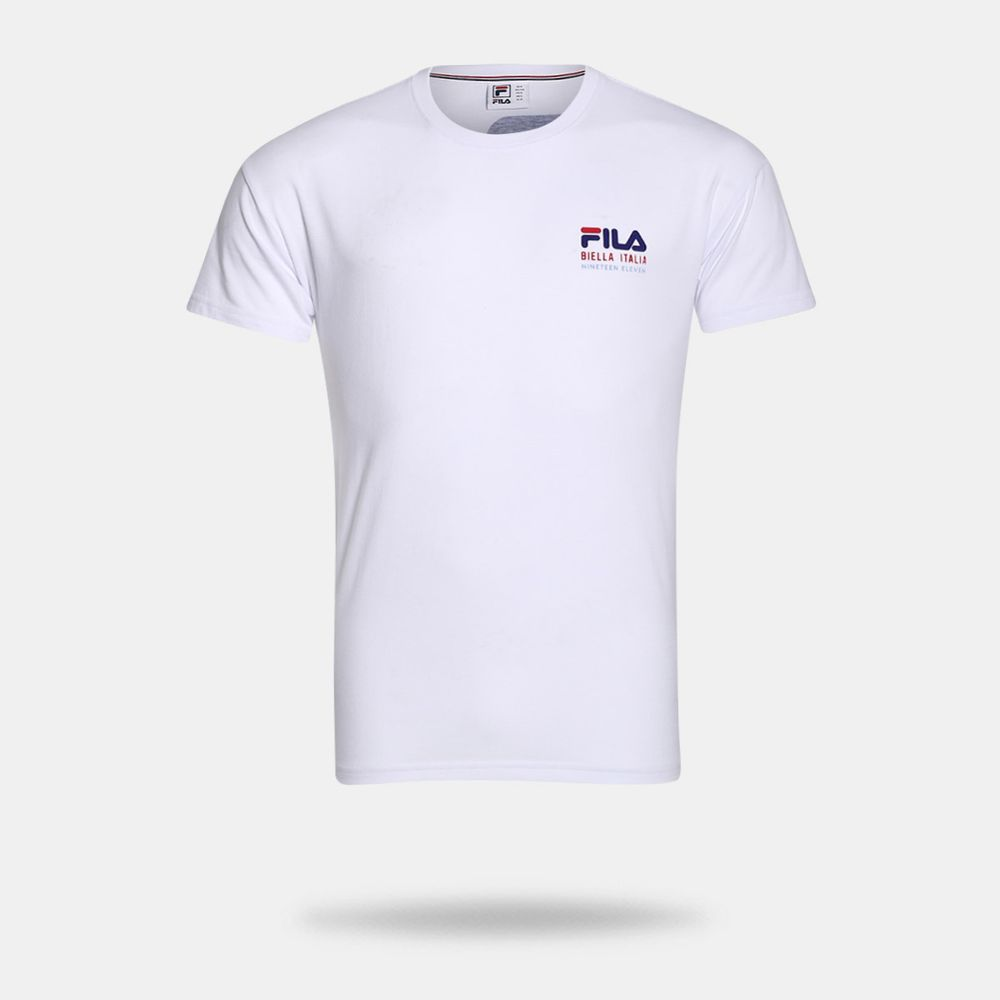 1fd7f87f0b Camiseta Fila Nineteen Eleven Branca Masculina