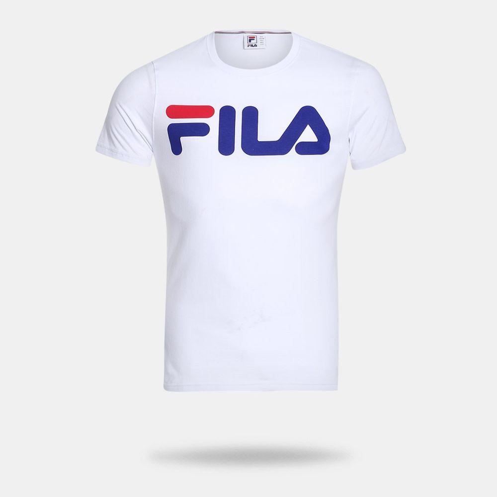 f70cfd4ffd Camiseta Fila Letter Branca Masculina