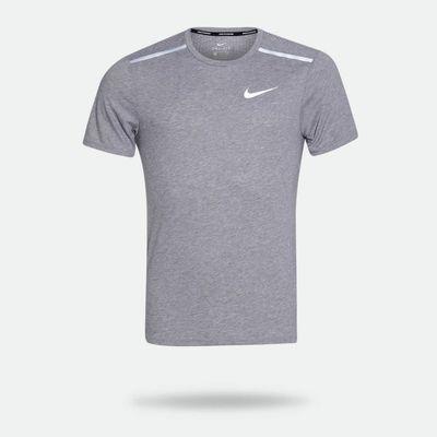 Camiseta Nike Dri-Fit Rise 365 Cinza Masculina Cinza - Gaston ... 692006aab2208