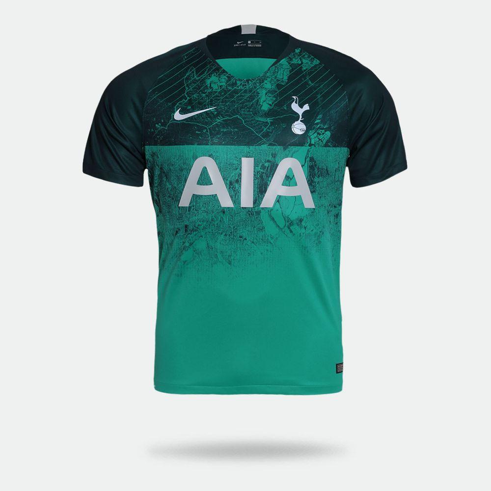 Camisa Nike Tottenham 2018 2019 III Torcedor Verde Masculina b176ea52027