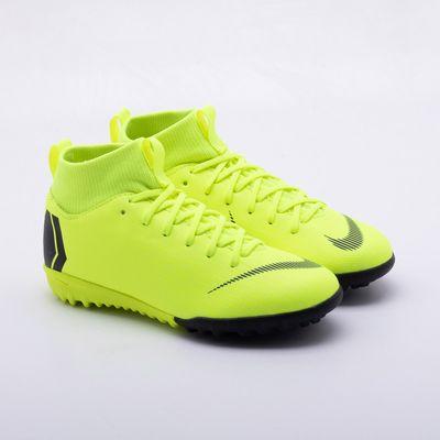d274cdc681 Chuteira Society Nike JR Mercurial Superfly TF Infantil Verde Limão ...