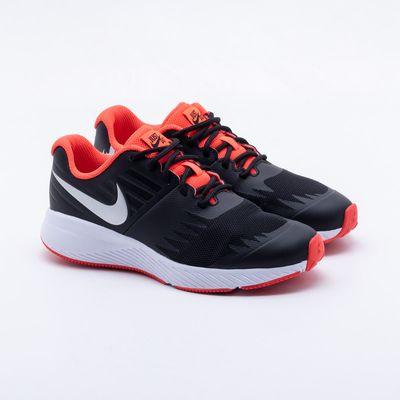 c1bb3e20725 Tênis Nike Infantil Star Runner Just do It Preto Preto e Coral ...