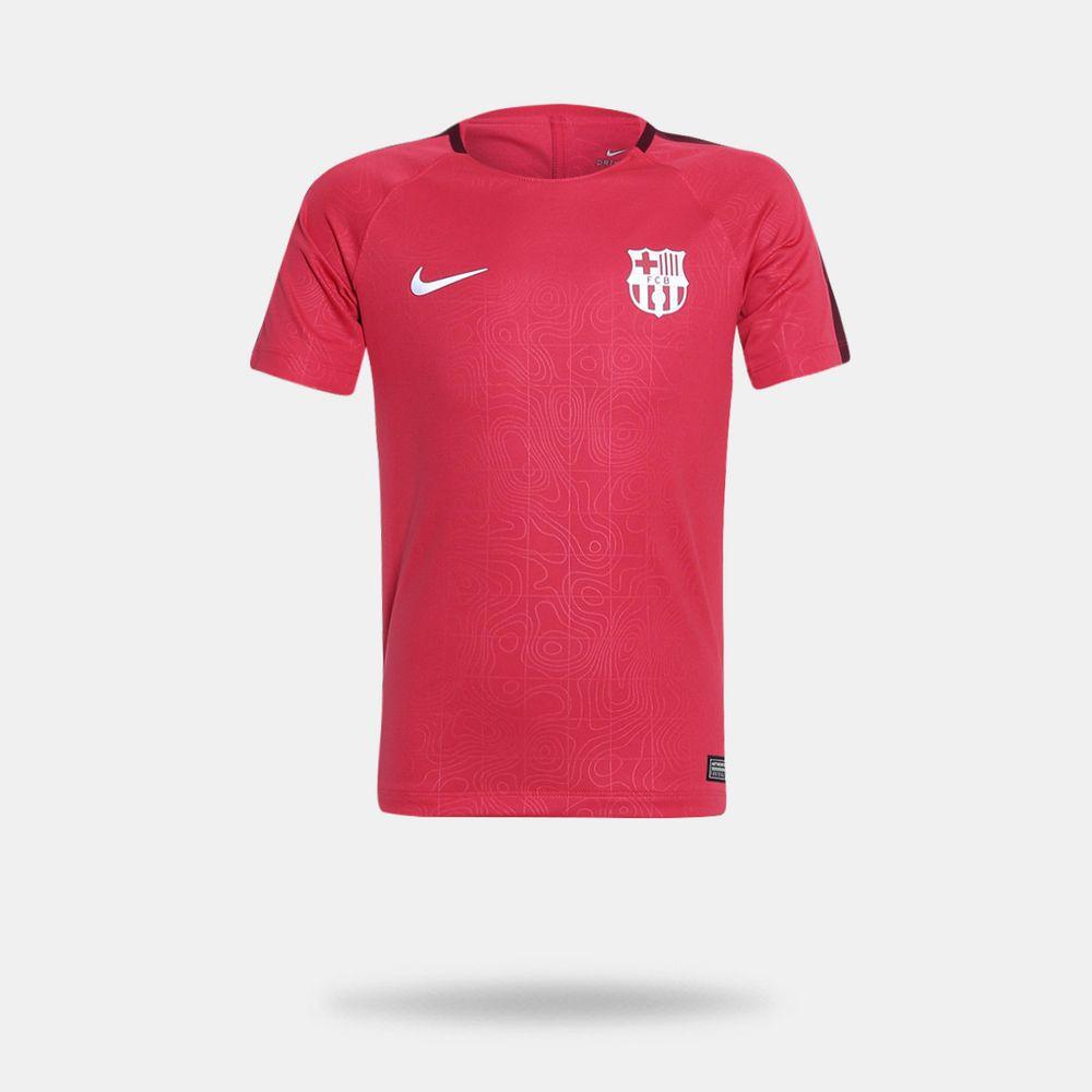 Camisa Nike Barcelona 2018 2019 Torcedor Vermelha Infantil 0bfe716baff
