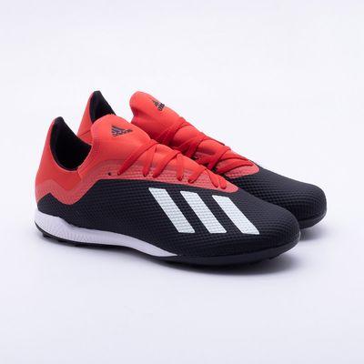 92da0bf15c Chuteira Society Adidas x 18.3 TF Preto e Vermelho - Gaston ...