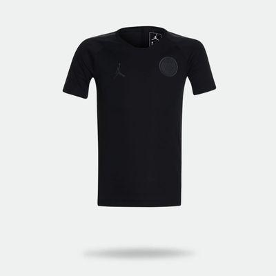0caaa09b7 Camisa Nike Jordan X PSG 2018 2019 Torcedor Preta Infantil Preto ...