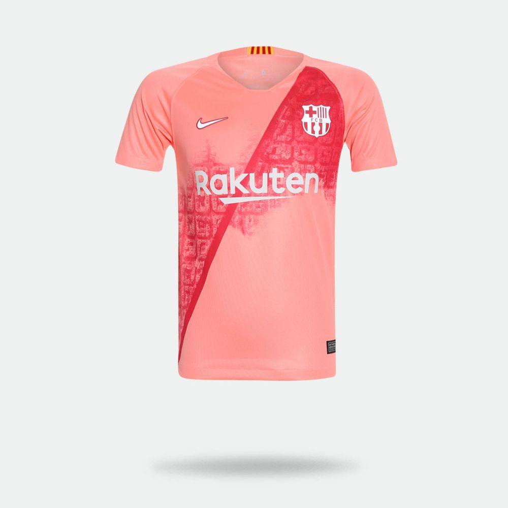 ef57c9138e Camisa Nike Barcelona 2018 2019 III Torcedor Rosa Infantil