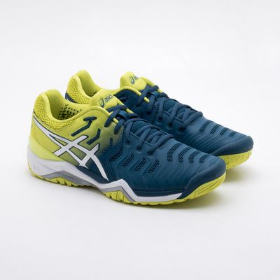 f09b3665c95bc Tênis Asics Gel Resolution 7 Masculino Azul e Amarelo - Gaston ...