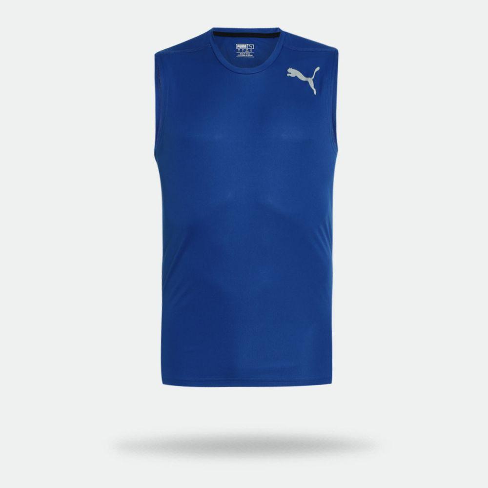 Camiseta Regata Puma Essential Sleeveless Azul Masculina a64fe856e55