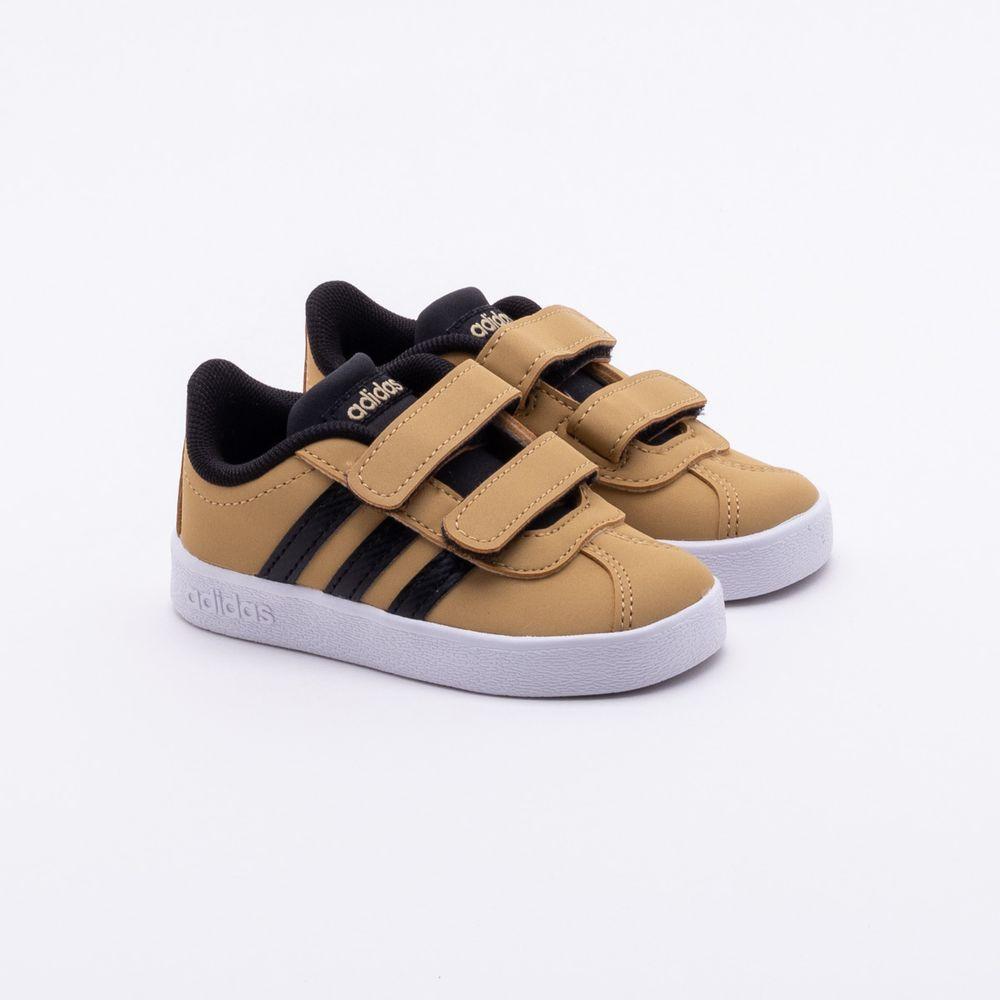Tênis Adidas Infantil VL Court 2.0 Bege 7c6237e4219ed