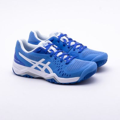 e321f324153 Tênis Asics Gel Challenger 12 Feminino Azul e Branco - Gaston ...