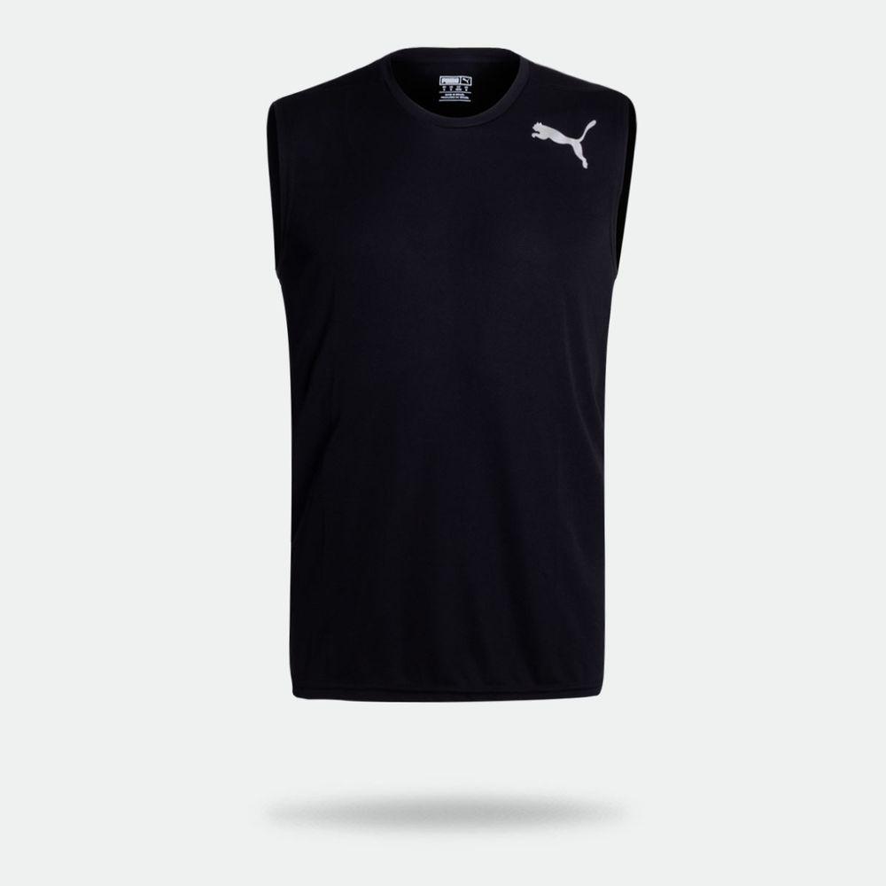 55b30686bf Camiseta Regata Puma Essentials Sleeveless Preta Masculina