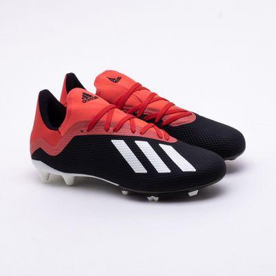 b22a6fb099 Chuteira Campo Adidas X 18.3 FG Preto e Vermelho - Gaston - Paqueta ...