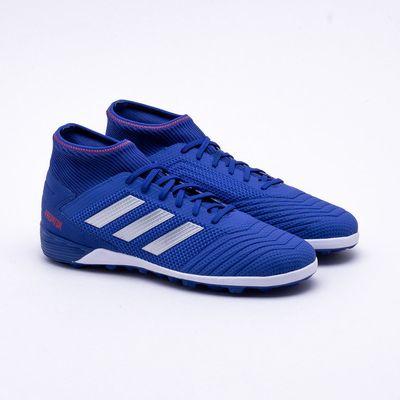 Chuteira Society Adidas Predator Tango 19.3 TF Azul e Branco ... acf4650eacad9