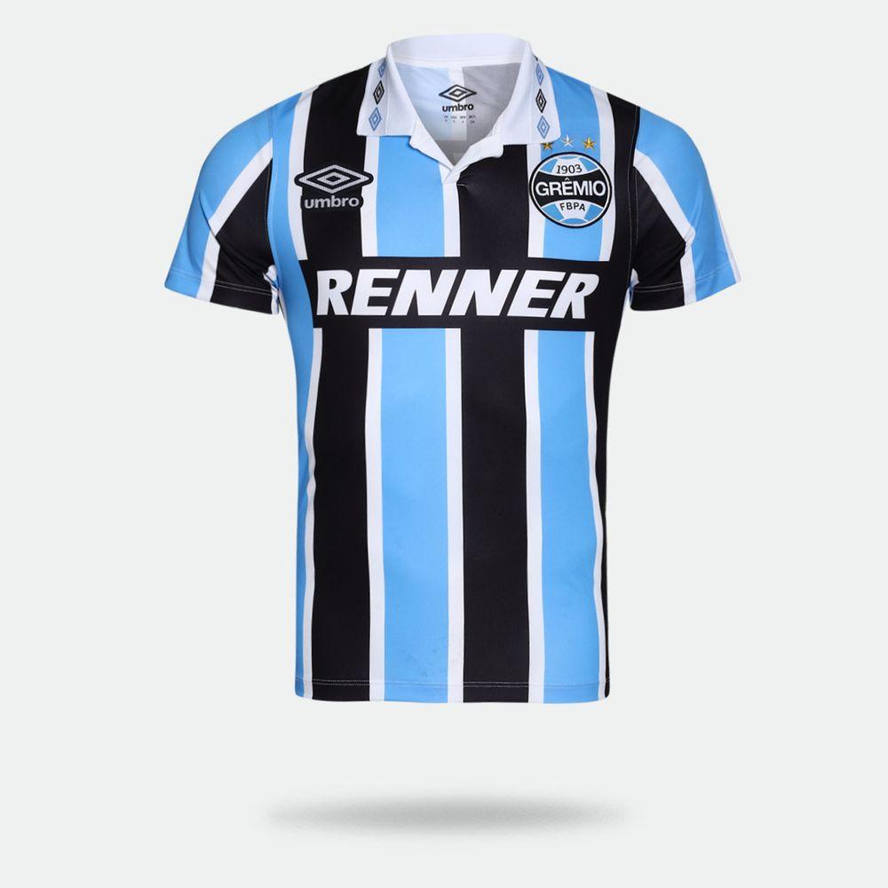 Camisa Umbro Grêmio 2018 Bi Libertadores Tricolor Masculina 00b2e5b221e57
