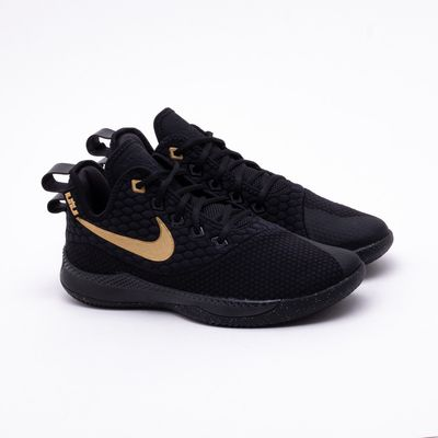 6ac6d3c064f Tênis Nike Lebron Witness III Masculino Preto e Dourado - Gaston ...