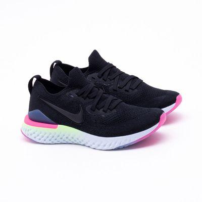 a4108693854ad Tênis Nike Epic React Flyknit 2 Feminino Preto - Gaston - Paqueta ...