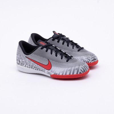 2a35ea5b9 Chuteira Futsal Nike Mercurial Infantil Vapor 12 Neymar IC Branco e ...