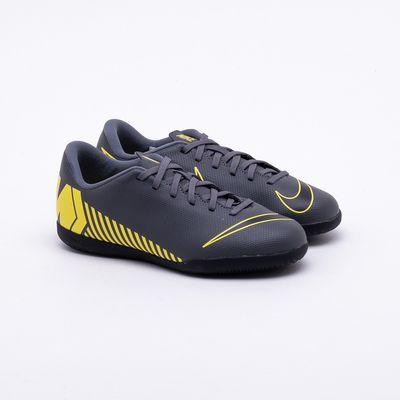 dcf470fae Chuteira Futsal Nike MercurialX Infantil Vapor 12 Club IC Cinza e ...
