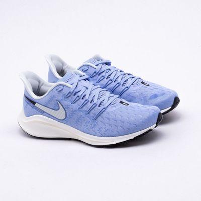 d7671f43994657 Tênis Nike Air Zoom Vomero 14 Feminino Azul e Branco - Gaston ...