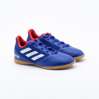 dbd9c6a94d8a5 Chuteira Futsal Adidas Predator 19.4 IN Infantil Azul - Gaston ...